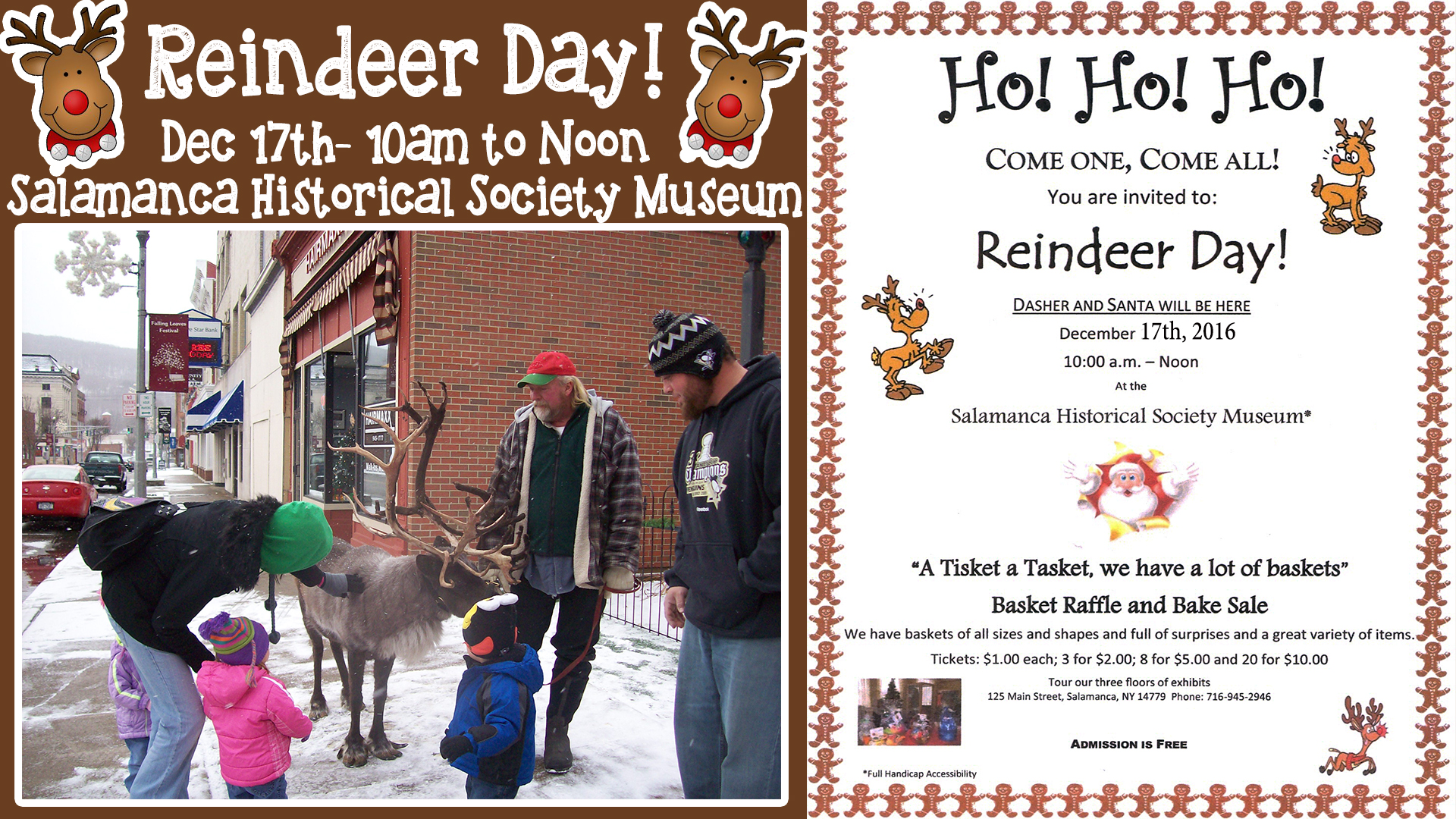 Reindeer Day at the Salamanca Historical Society Museum