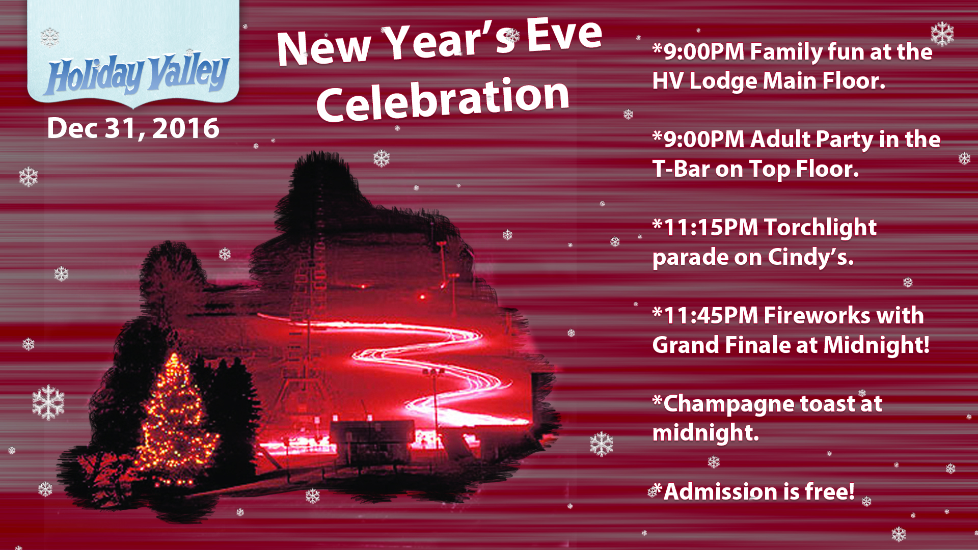 2016 Holiday Valley New Year's Eve Celebration