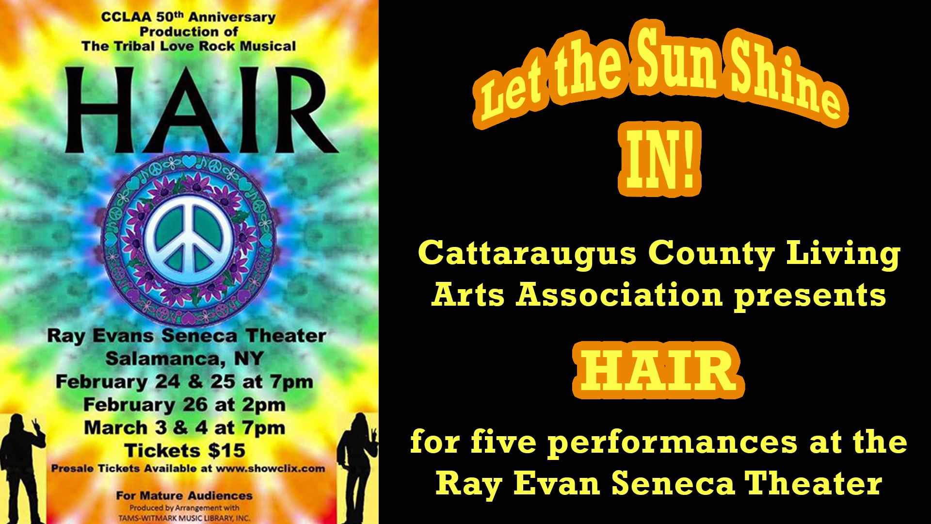 Hair at the Ray Evans Seneca Theater