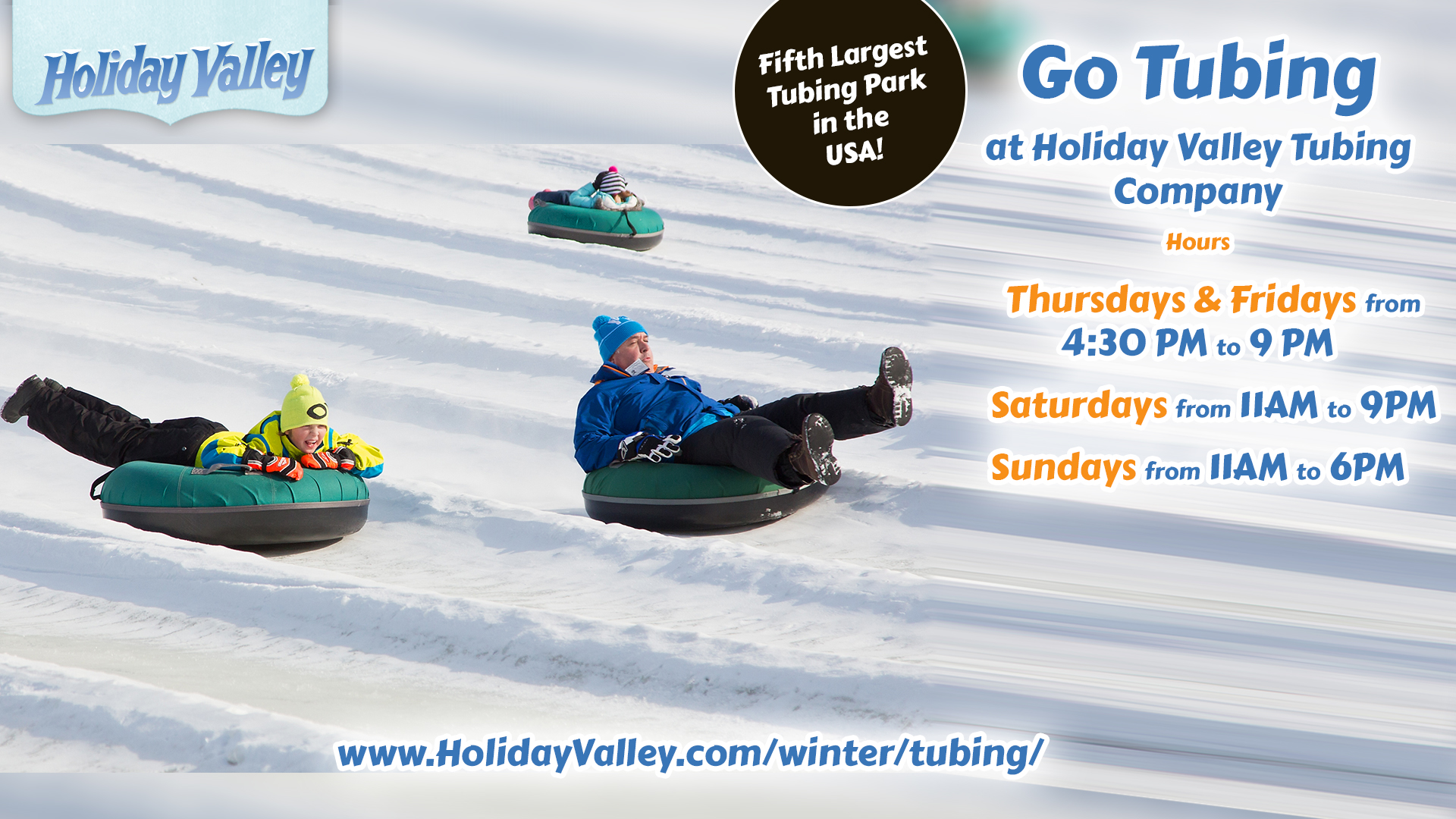 Holiday Valley Tubing is perfect for whole family!