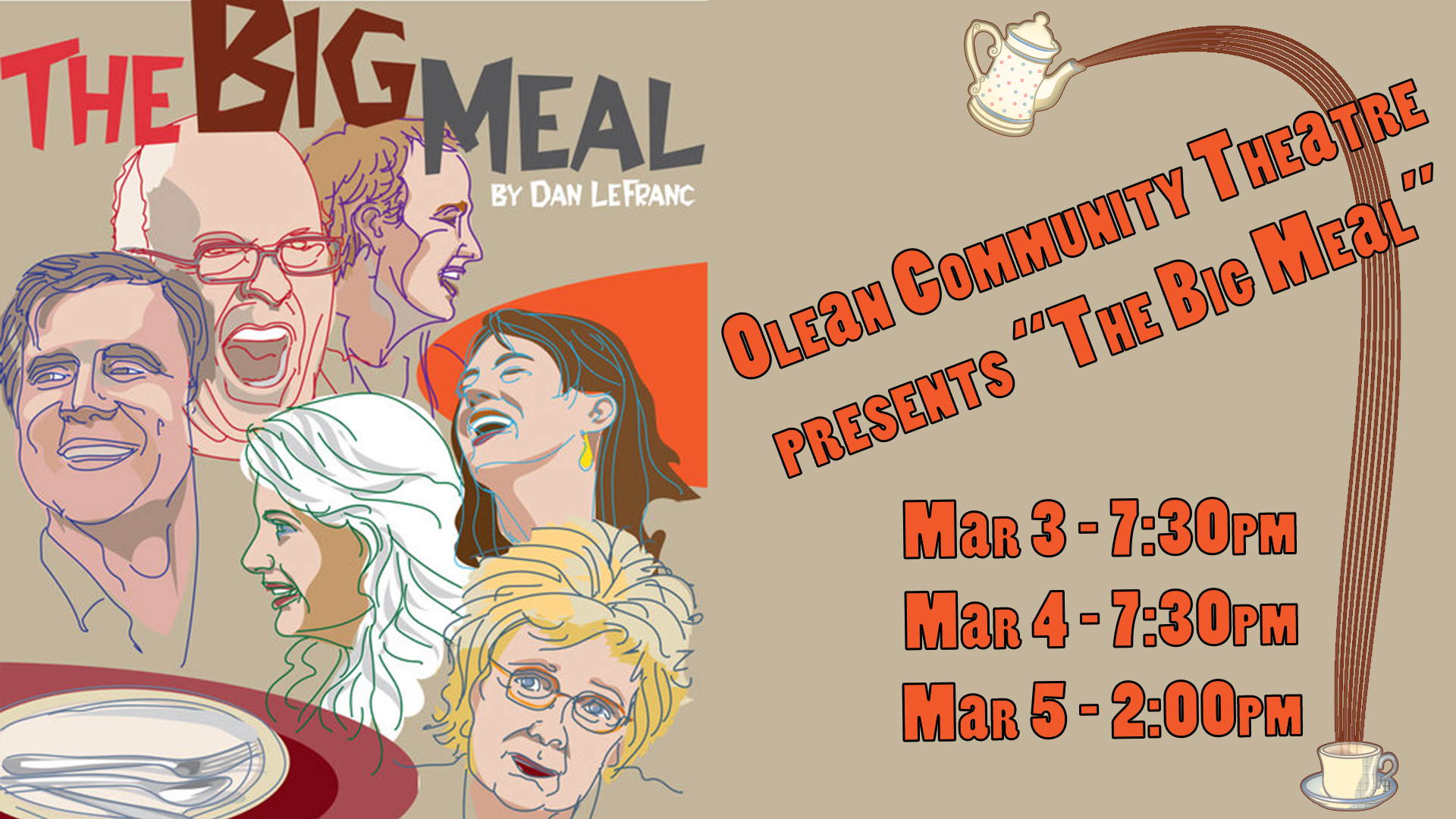 "Olean Community Theatre's ""The Big Meal"""