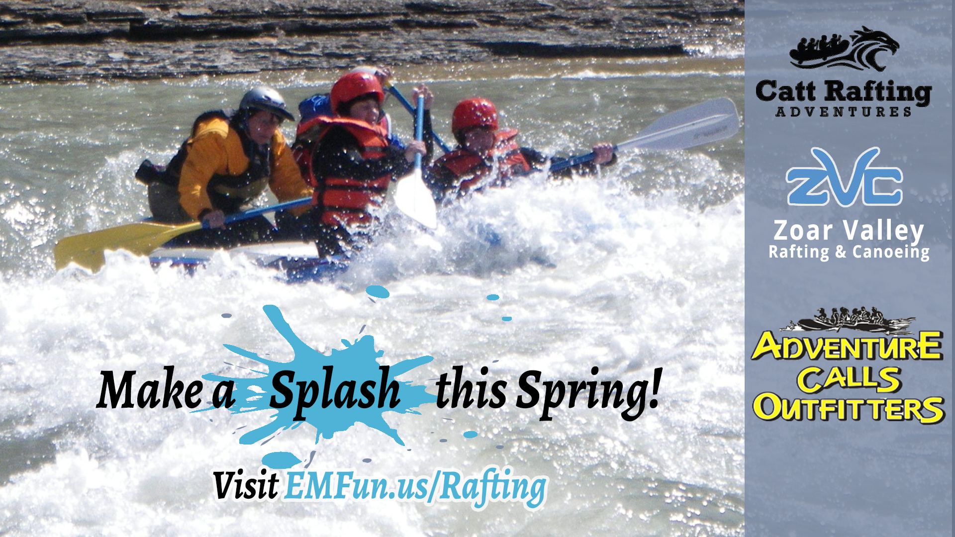 Whitewater Rafting on the Cattaraugus Creek