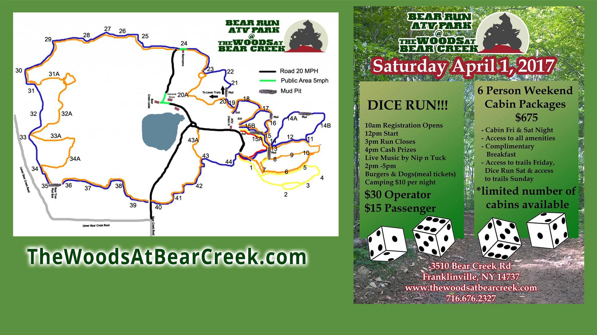 ATV Dice Run at The Woods at Bear Creek