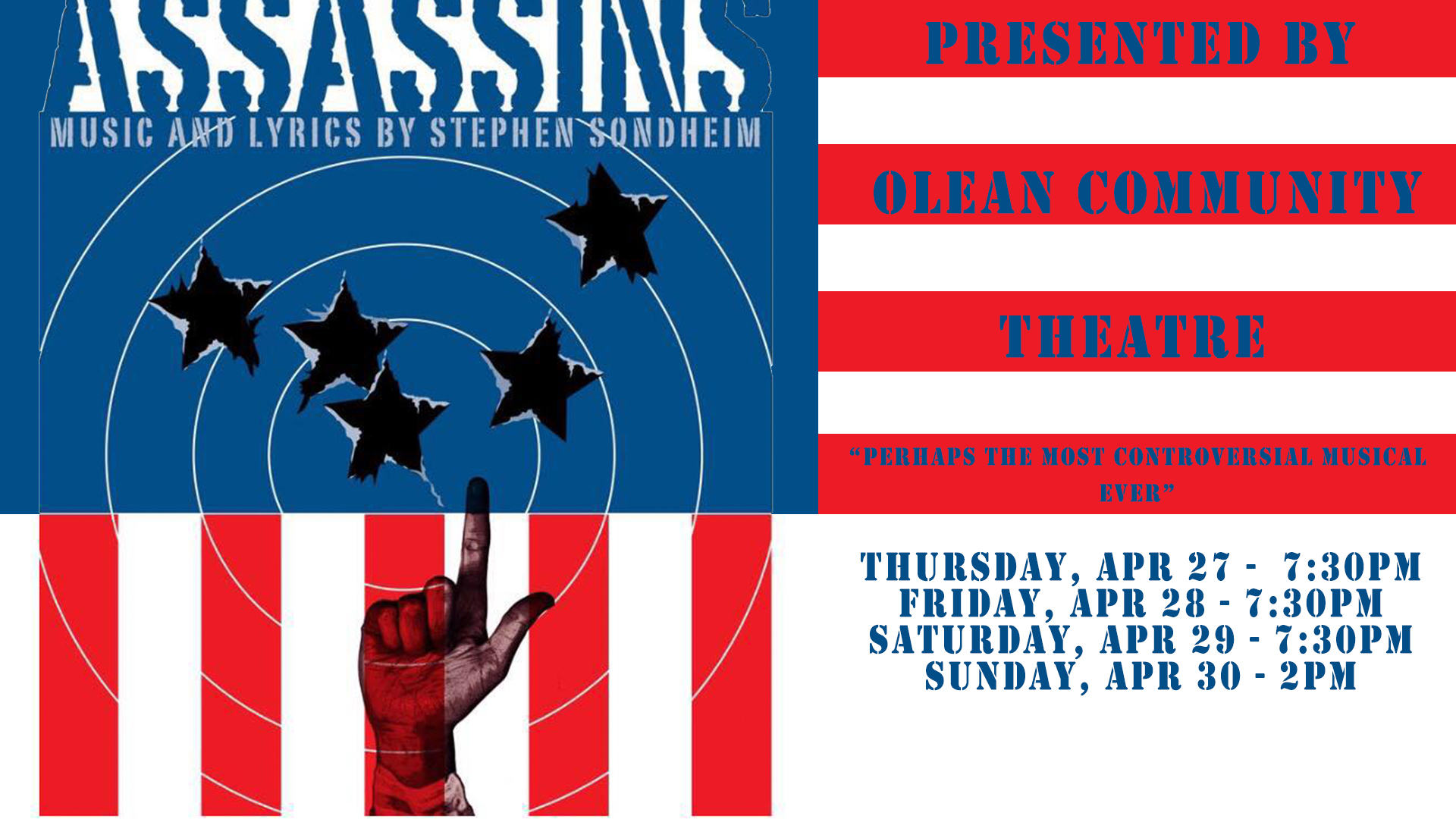 "Olean Community Theatre presents ""Assassins"""