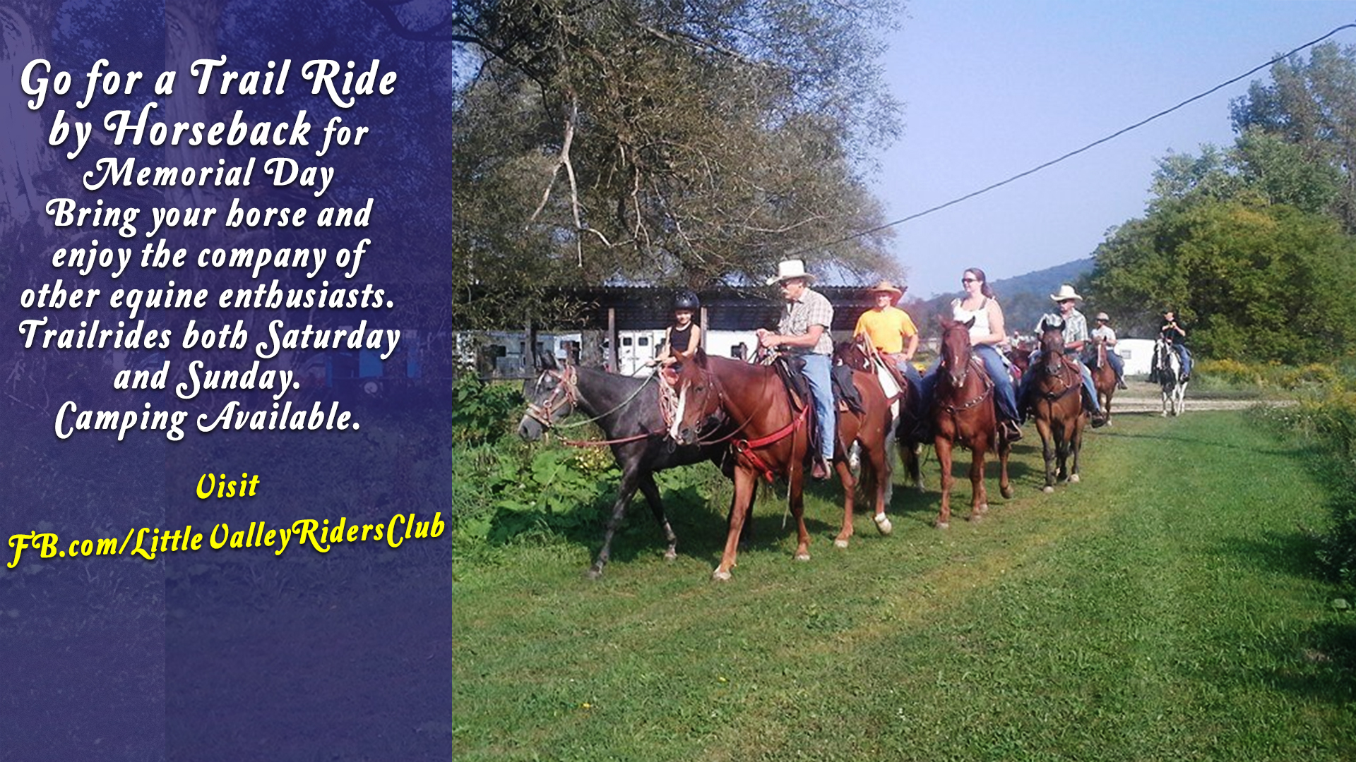 Little Valley Trailriders Annual Memorial Day