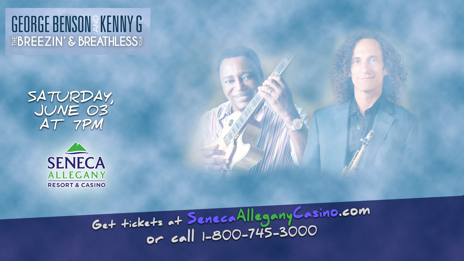George Benson and Kenny G at the Seneca Allegany Casino