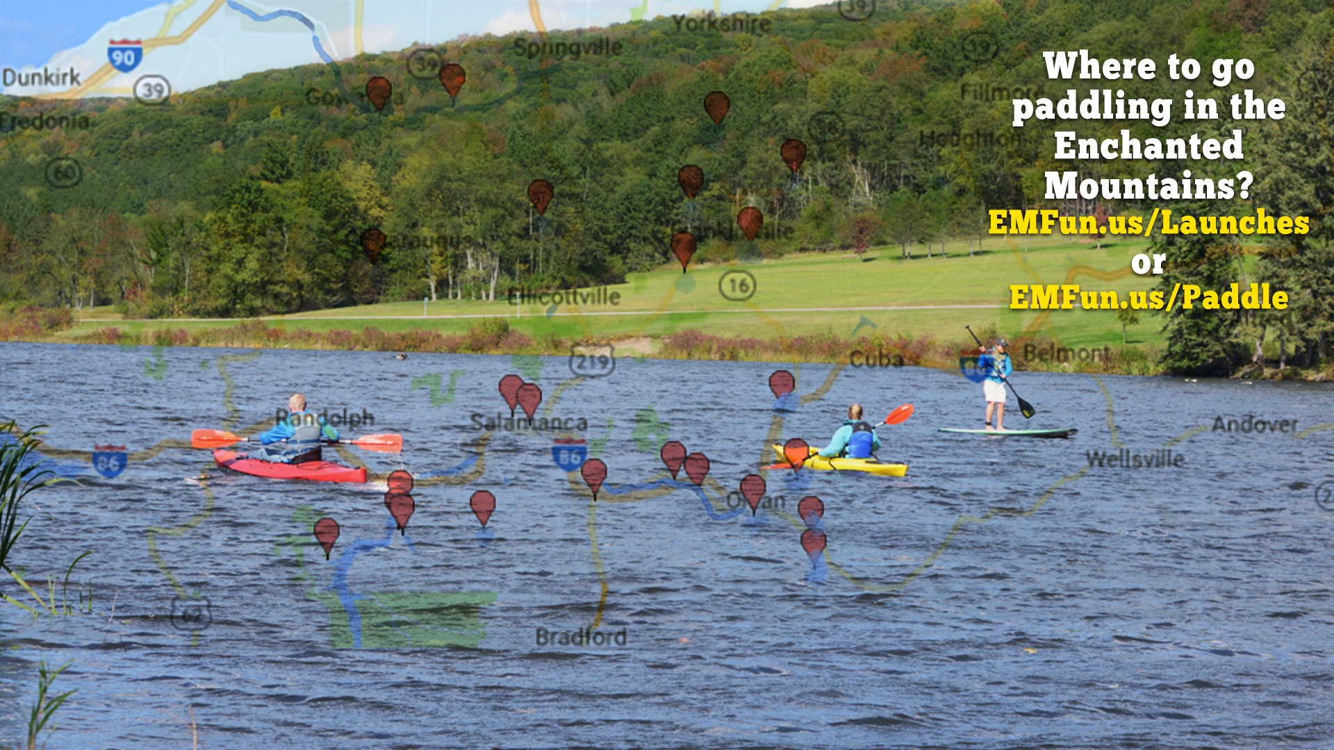 Kayaking in Cattaraugus County