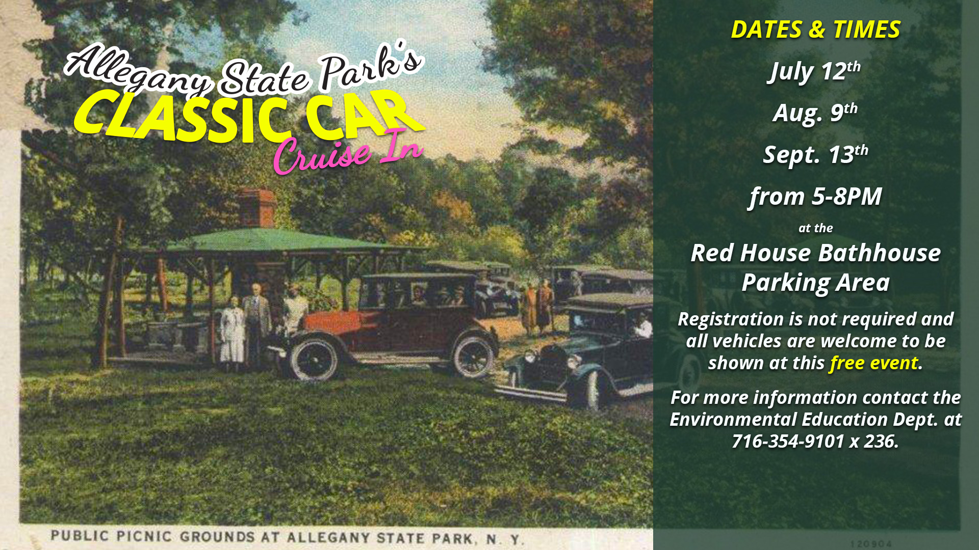 Classic Car Cruise In at Allegany State Park