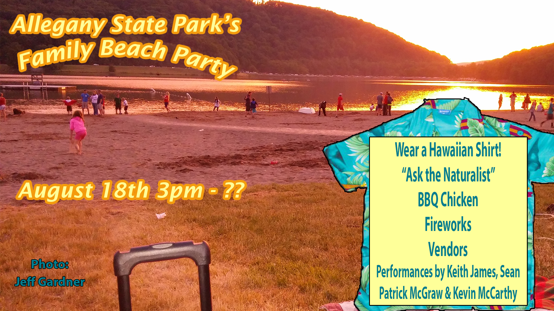 Allegany State Park Family Beach Party 2017