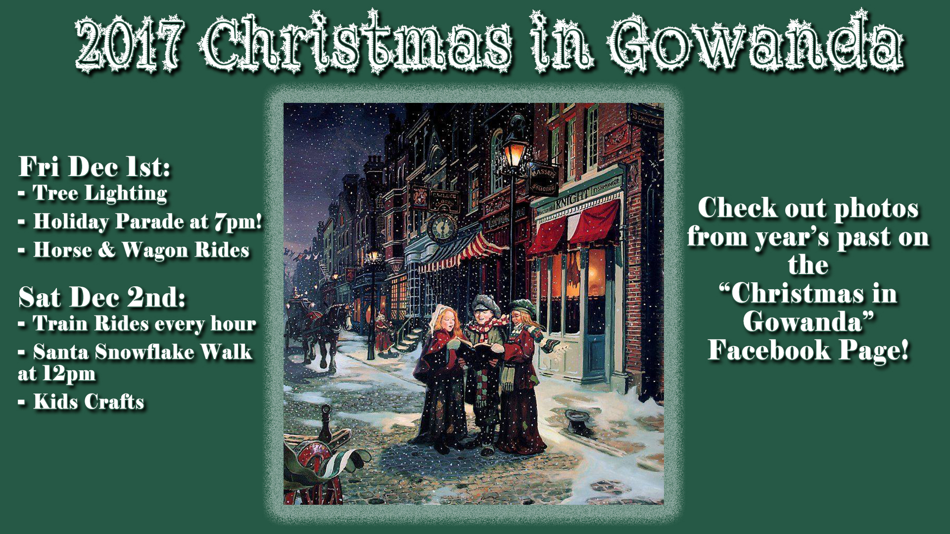 Christmas in Gowanda 2017