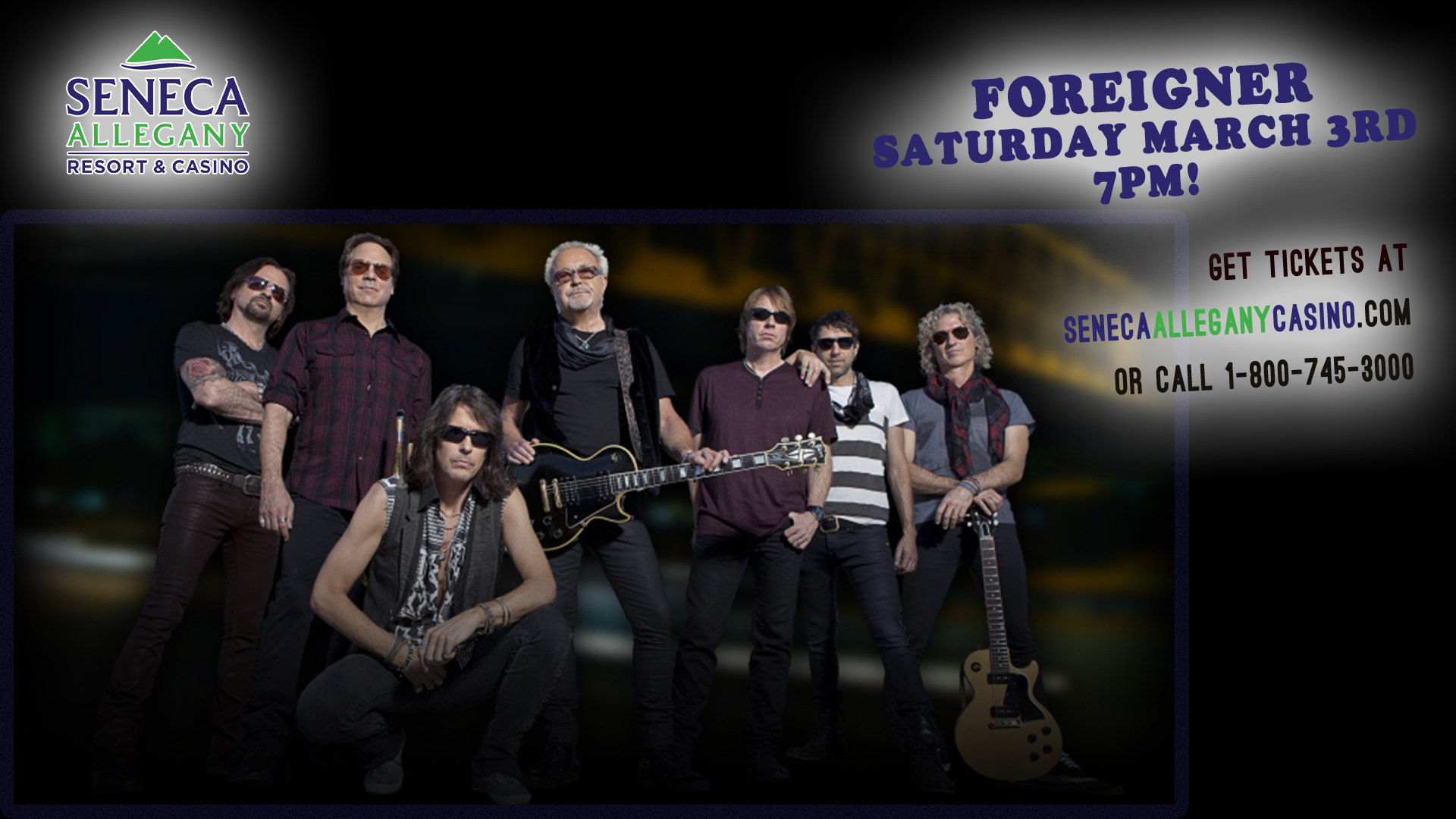 Foreigner at the Seneca Allegany Casino