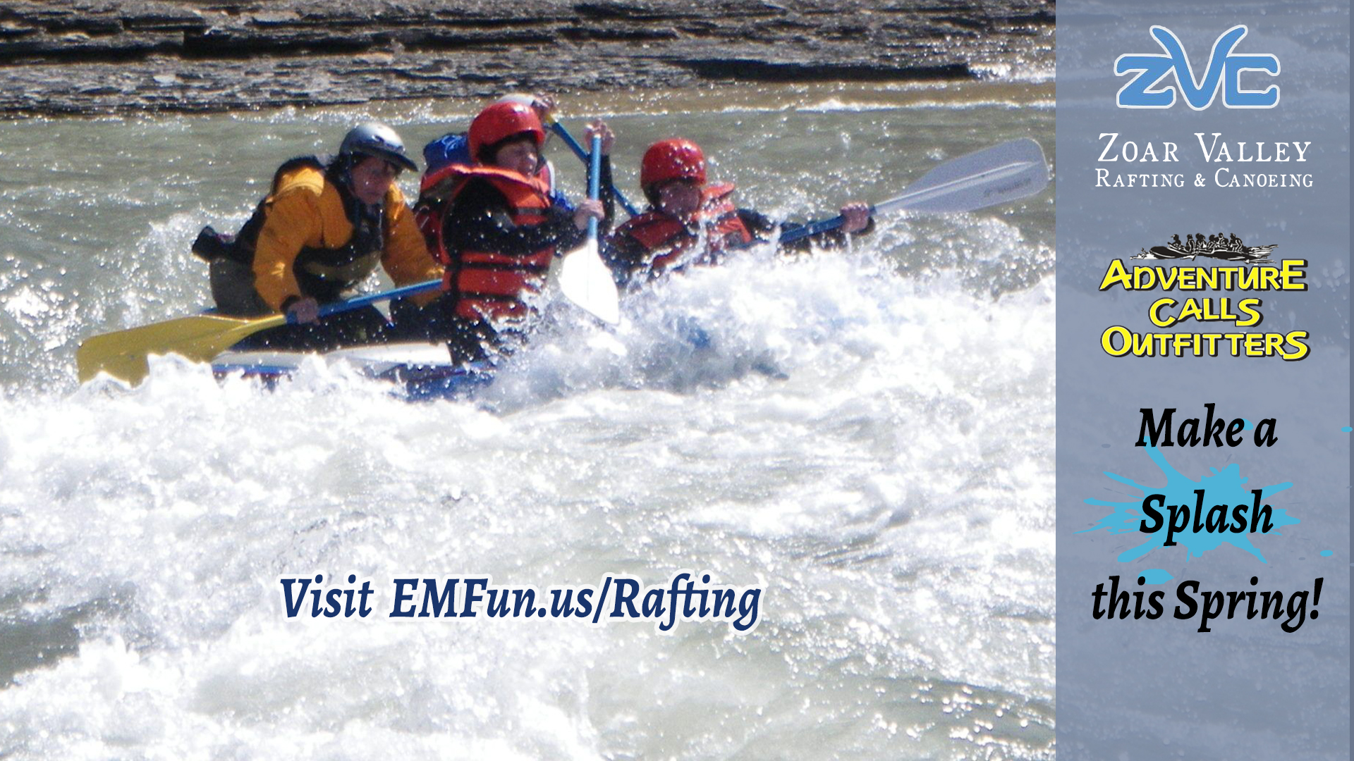 Whitewater Rafting Down the Catt Creek