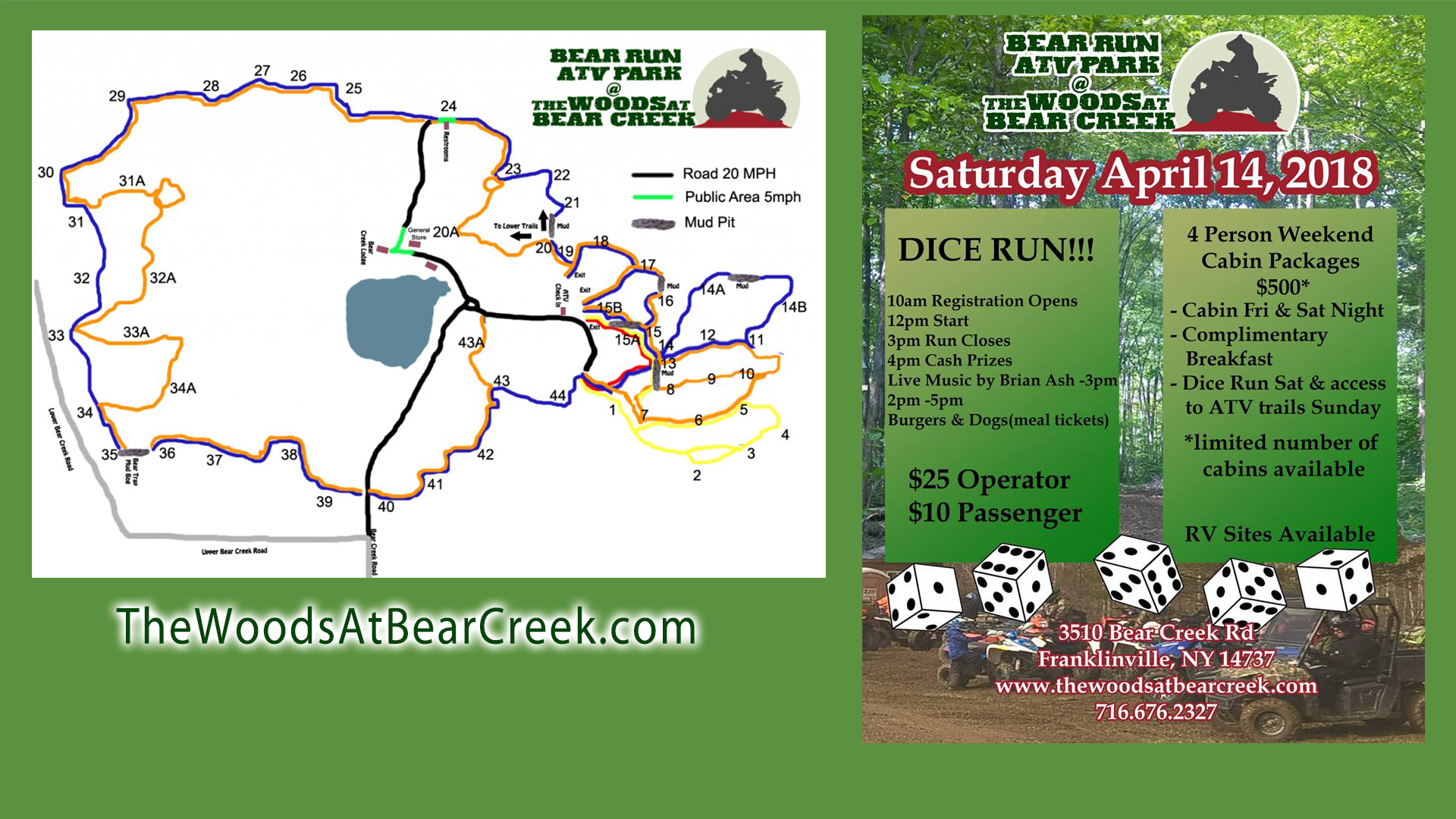 2018 Woods at Bear Creek ATV Dice Run
