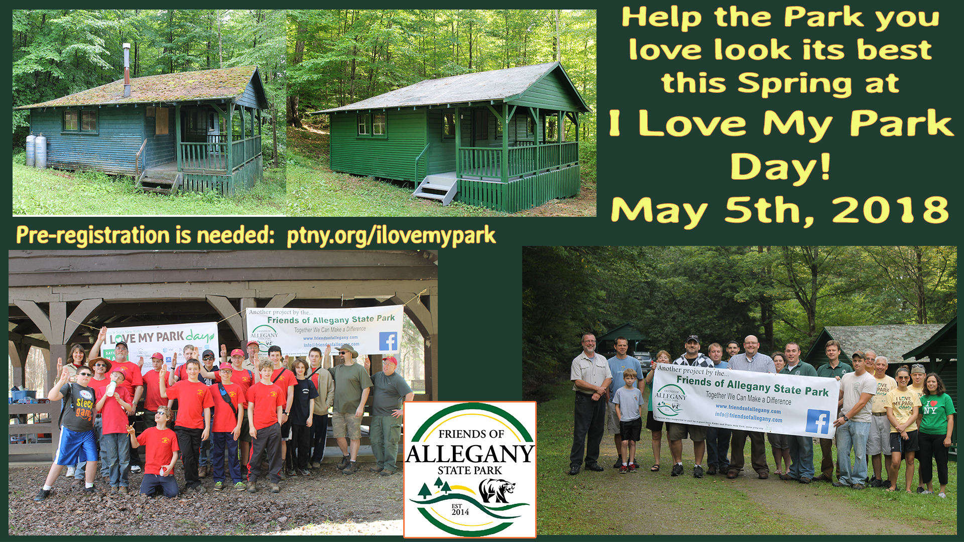2018 I Love My Park Day at Allegany State Park