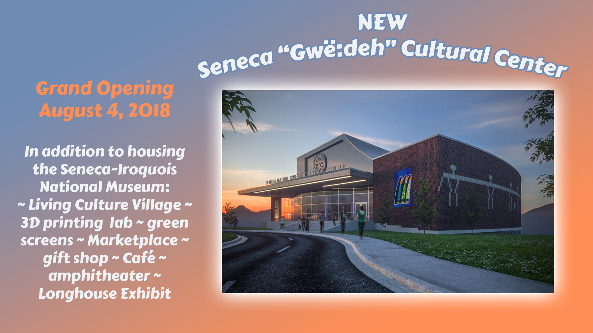 New Cultural Center in Salamanca NY Opening