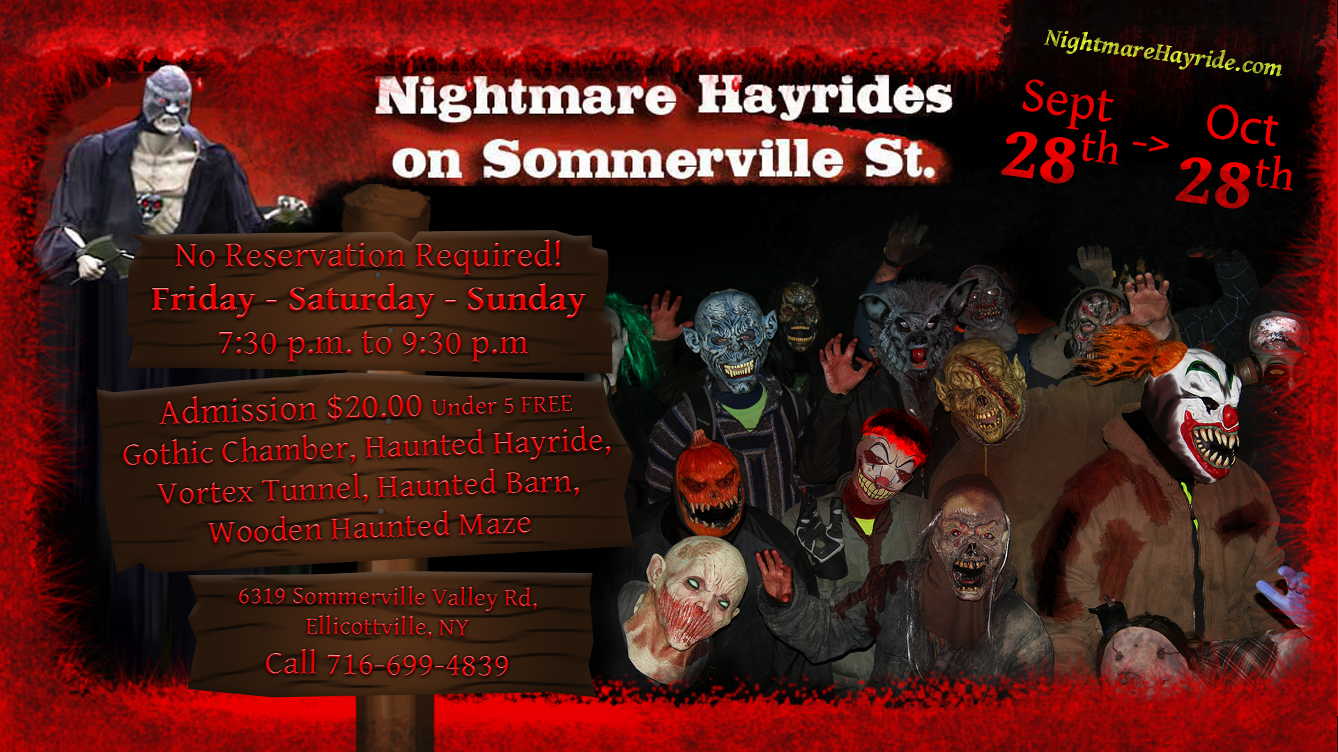 Nightmare Hayrides on Sommerville St. 2018