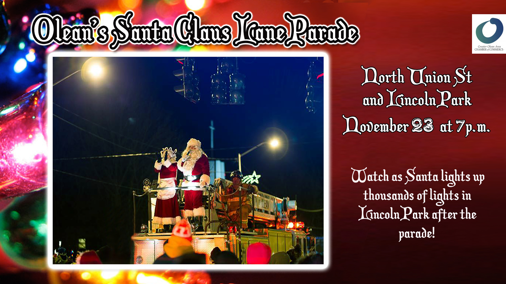 2018 Olean Santa Claus Lane Parade