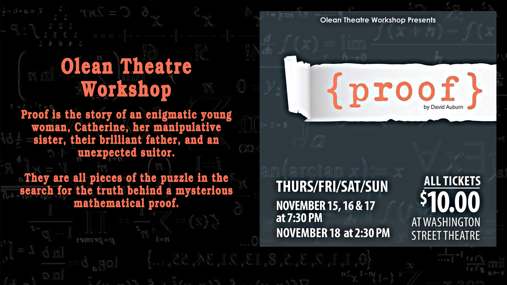 Olean Theatre Workshop's Proof