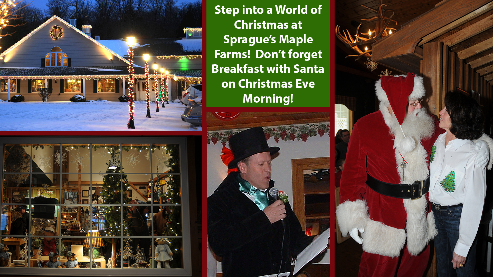 Breakfast with Santa at Sprague's Maple Farms 2018