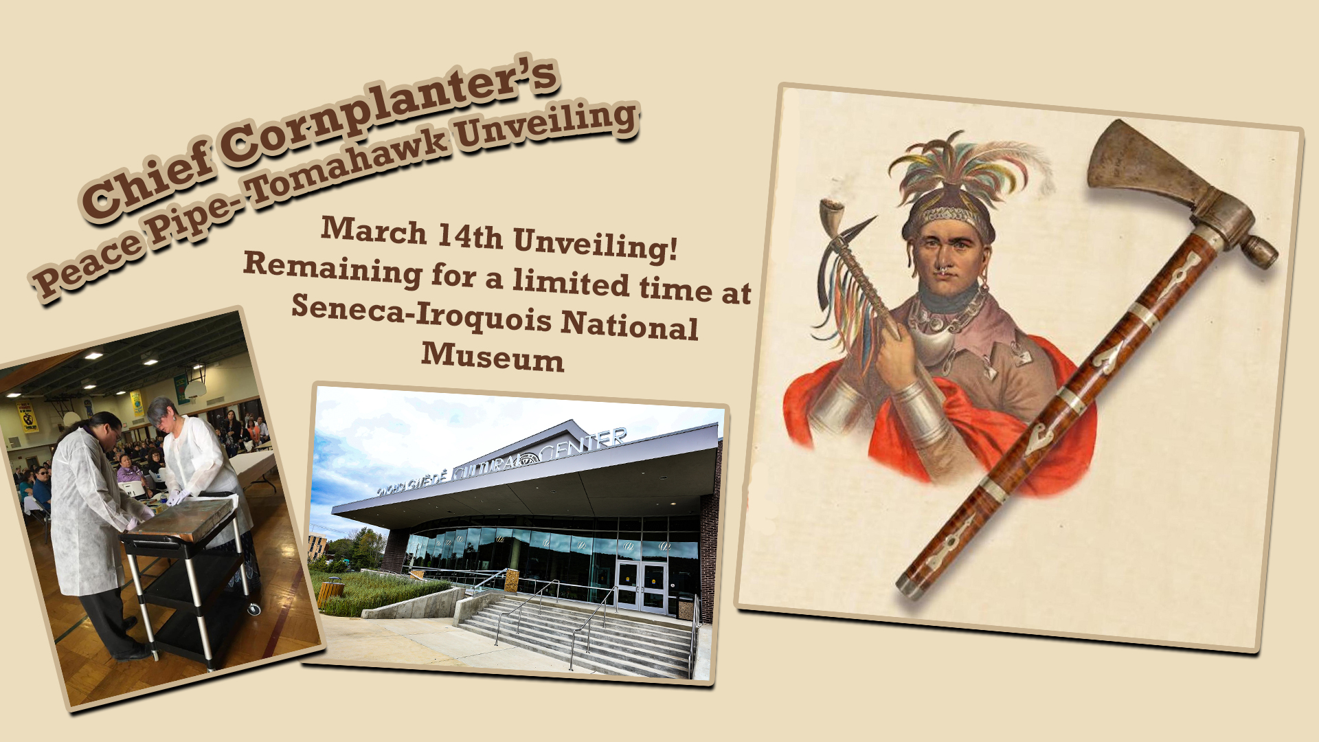Peace Pipe-Tomahawk unveiling at the Seneca-Iroquois National Musem