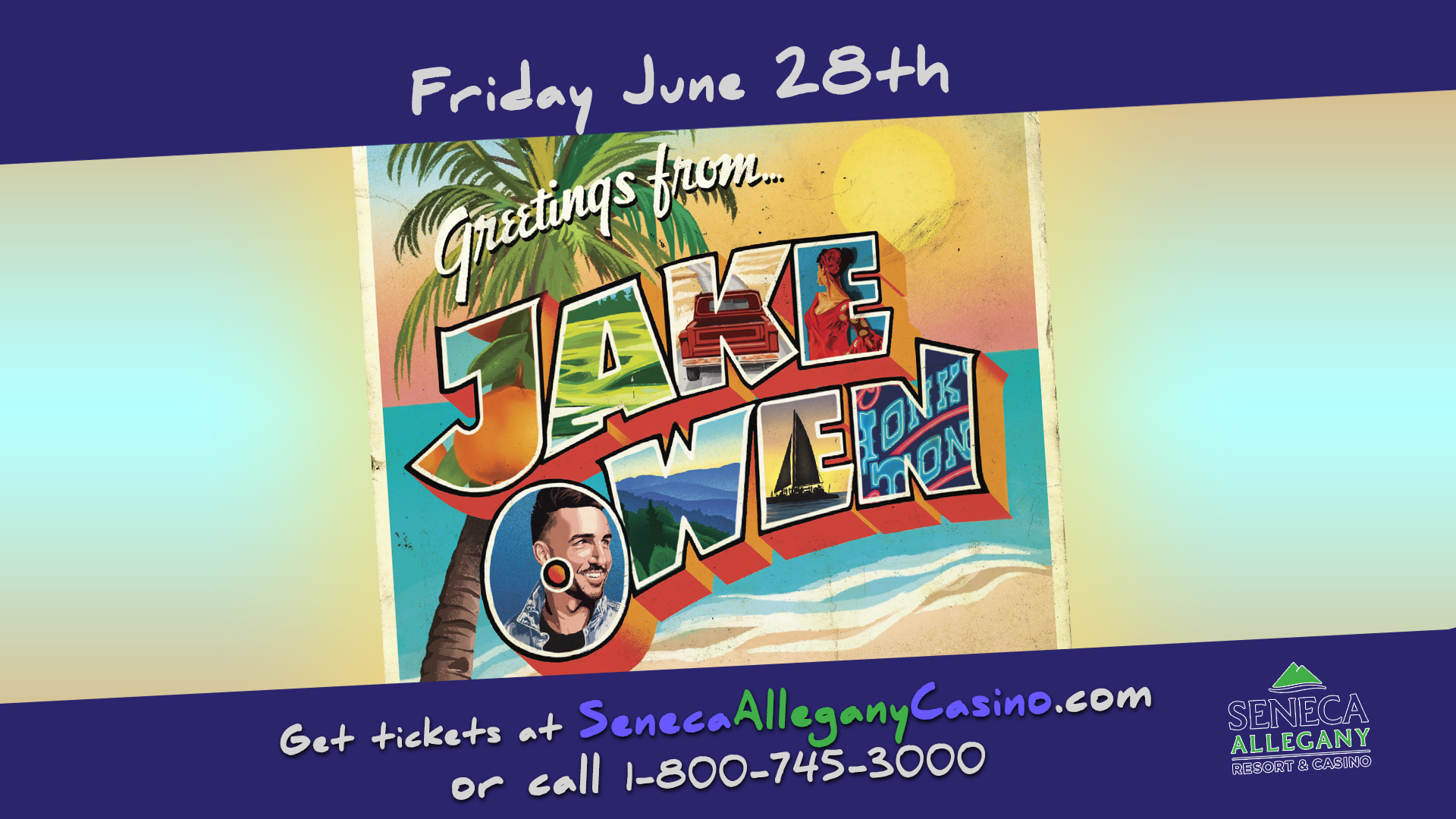 Jake Owen at the Seneca Allegany Resort and Casino