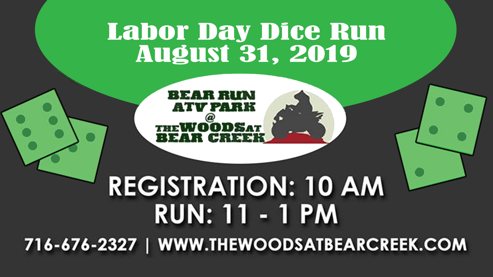 Labor Day 2019 Dice Run at The Woods at Bear Creek