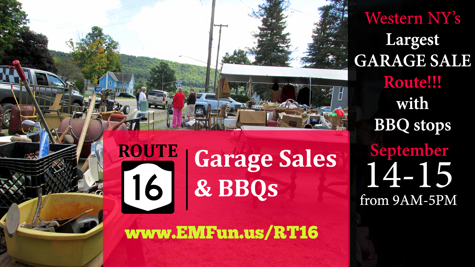 Rt. 16 Garage Sales and BBQs 2019