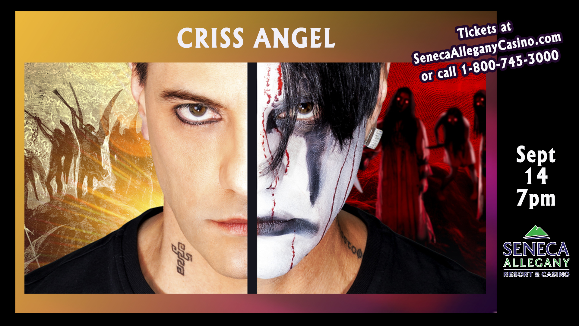 Criss Angel at the Seneca Allegany Resort and Casino