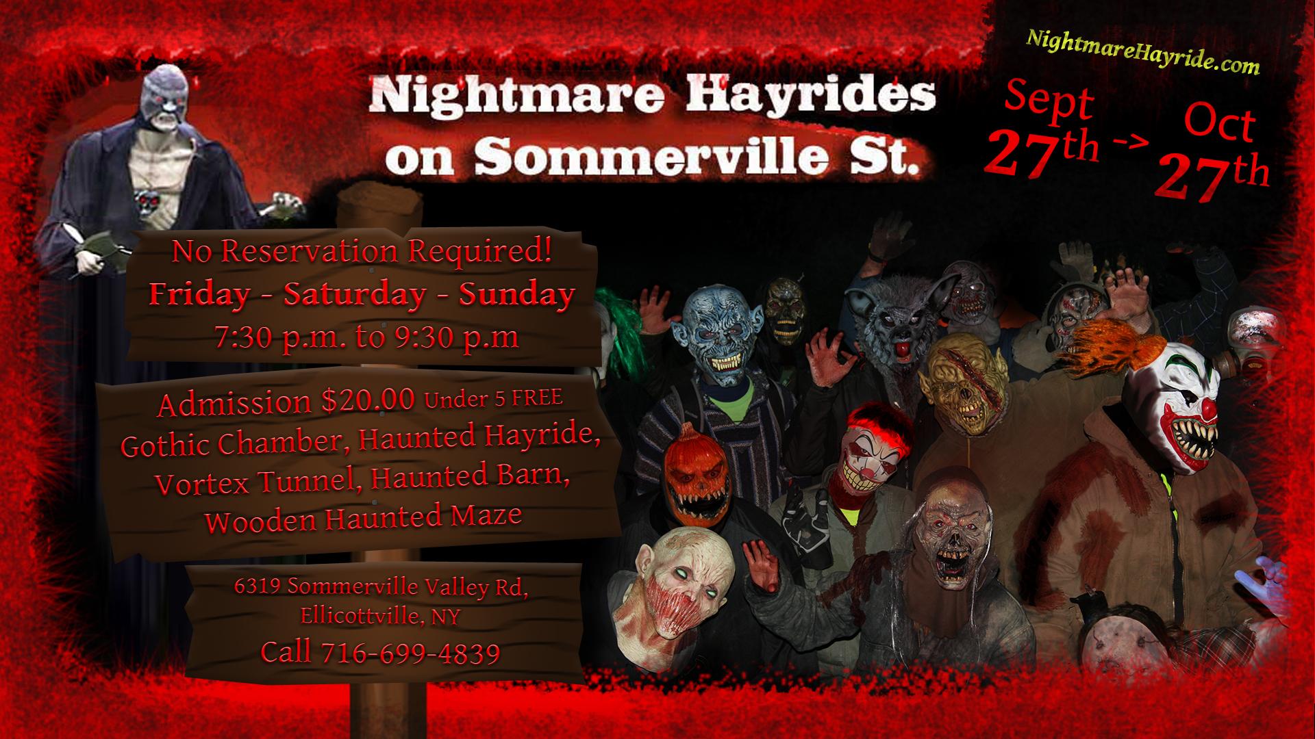 Nightmare Hayrides in Ellicottville 2019