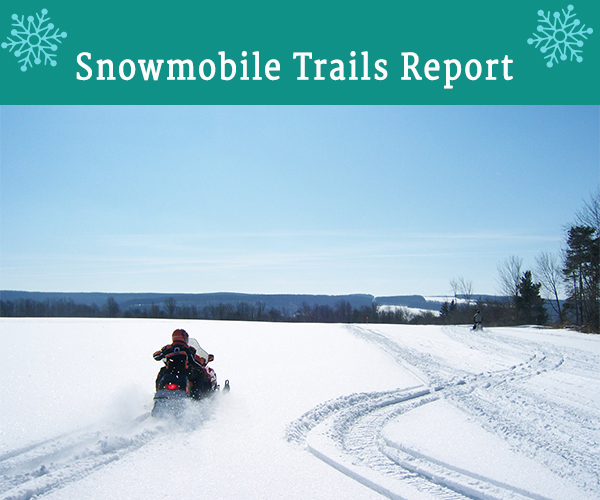 Click here to get the latest Cattaraugus County Snowmobile Trail Report