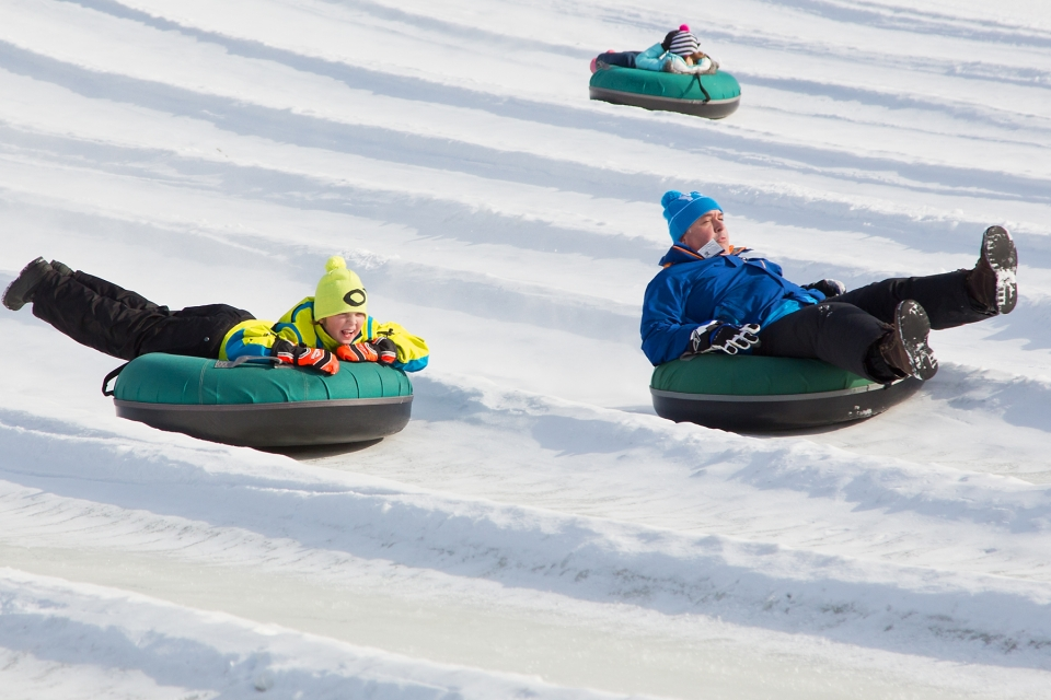 Tubing in the big hill at Holiday Valley Tubing Company