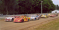 Race Cars at Little Valley Speedway